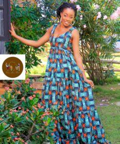 Robe paysanne Isaora, robe paysanne, robe longue