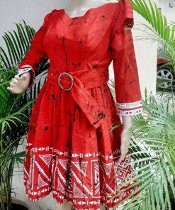 TRIBAL RED DRESS