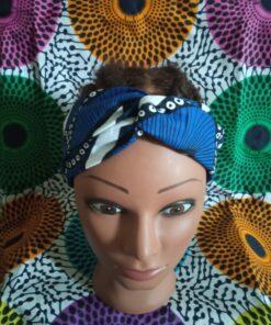 headband wax tissu wax plume de paon boucl'ebene by aime ti_face