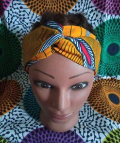 headband en wax tissu wax grotto jaune boucl'ebene by aime ti_3
